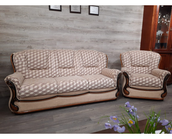 3-х местный диван + кресло «Изабель 2» (3м+12) - Дисконт