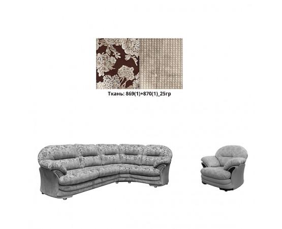 Набор мебели «Йорк» диван и кресло (3ML901R+12) - sale