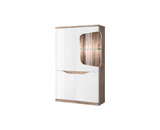 Шкаф с витриной 1V3D P «Evora»