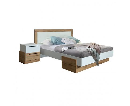 Кровать двойная «Гвиана» П631.05 (Белый + дуб вотан)
