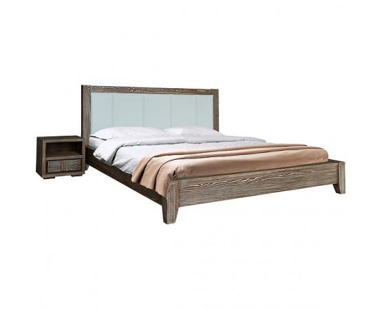 Кровать двойная «Концепт» с мягким изголовьем - SALE