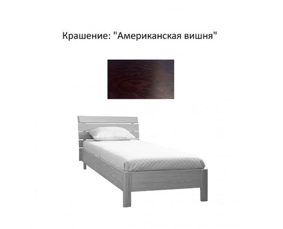 Кровать одинарная 1-09 «Лайма 1749» БМ661 - Американская вишня