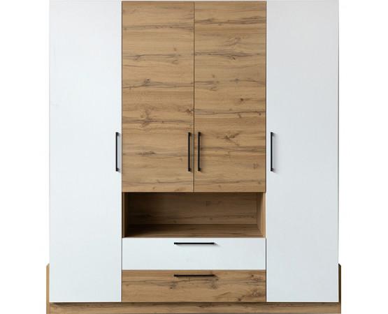 Шкаф для одежды «Гвиана» П631.01 (Белый + Дуб вотан)