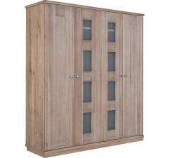 Шкаф для одежды 4д «Доминика 2107Бр» БМ711