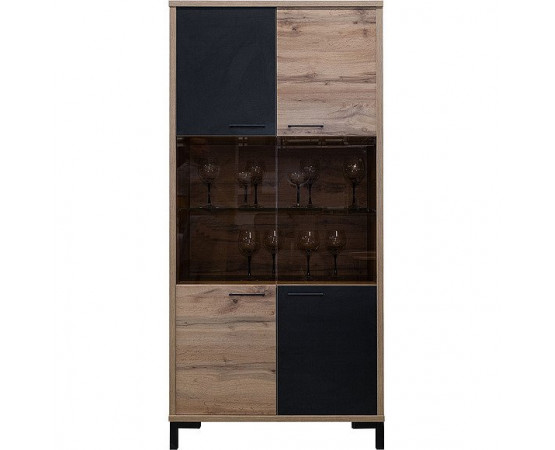 Шкаф с витриной «Блэквуд» П556.11