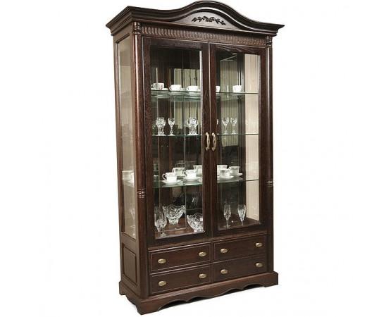 Шкаф с витриной 2д «Паола 2114» БМ670