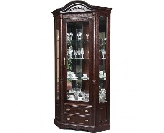 Шкаф с витриной угловой «Паола 2115» БМ670