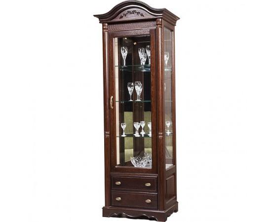 Шкаф с витриной «Паола 2380» БМ670