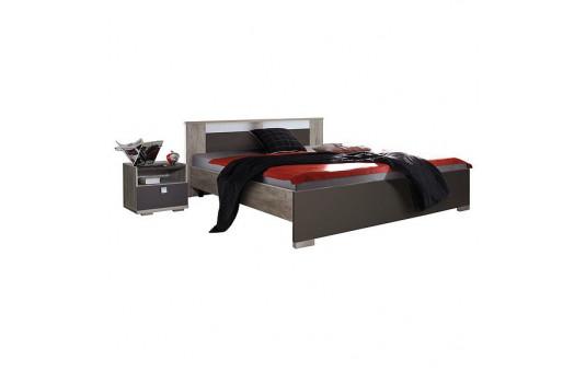 Кровать двойная «Квадро» П181.06м (дуб юкон)