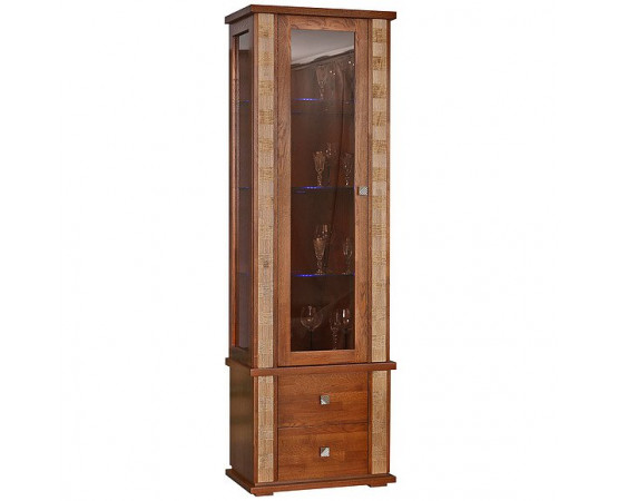 Шкаф с витриной «Тунис» П343.19Ш