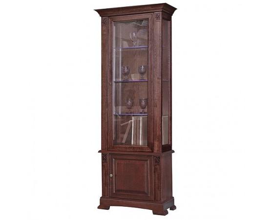Шкаф с витриной «Пьемонт» П518.19-1