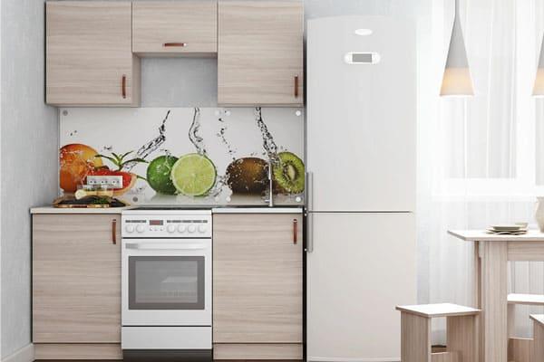 Кухонный гарнитур прямой для маленькой кухни