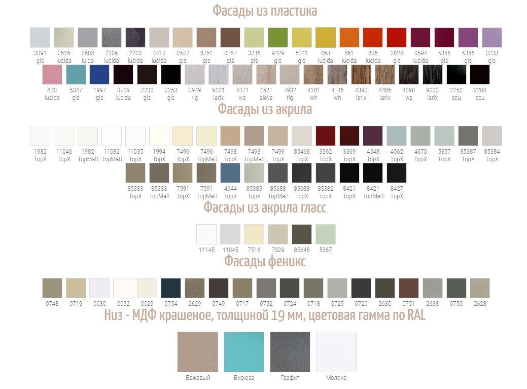 Цветовые вариации кухни Монтана