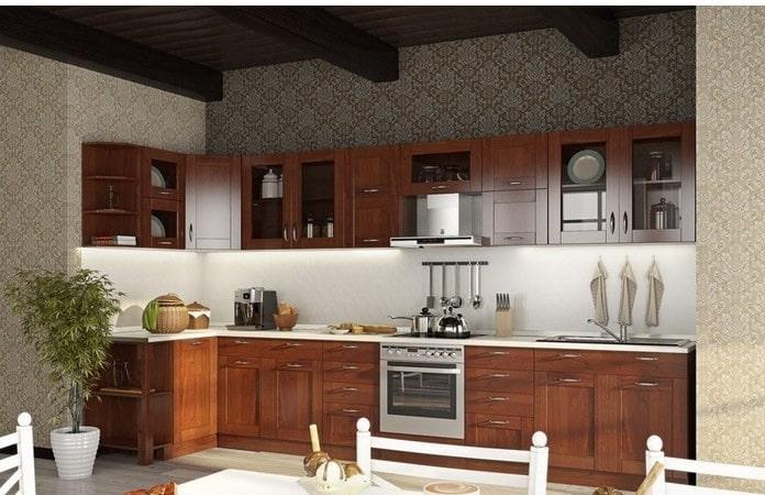 Мебель для кухни из бука