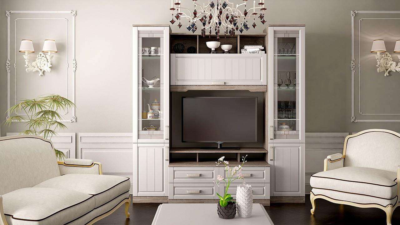Мебель в гостиную в стиле прованс