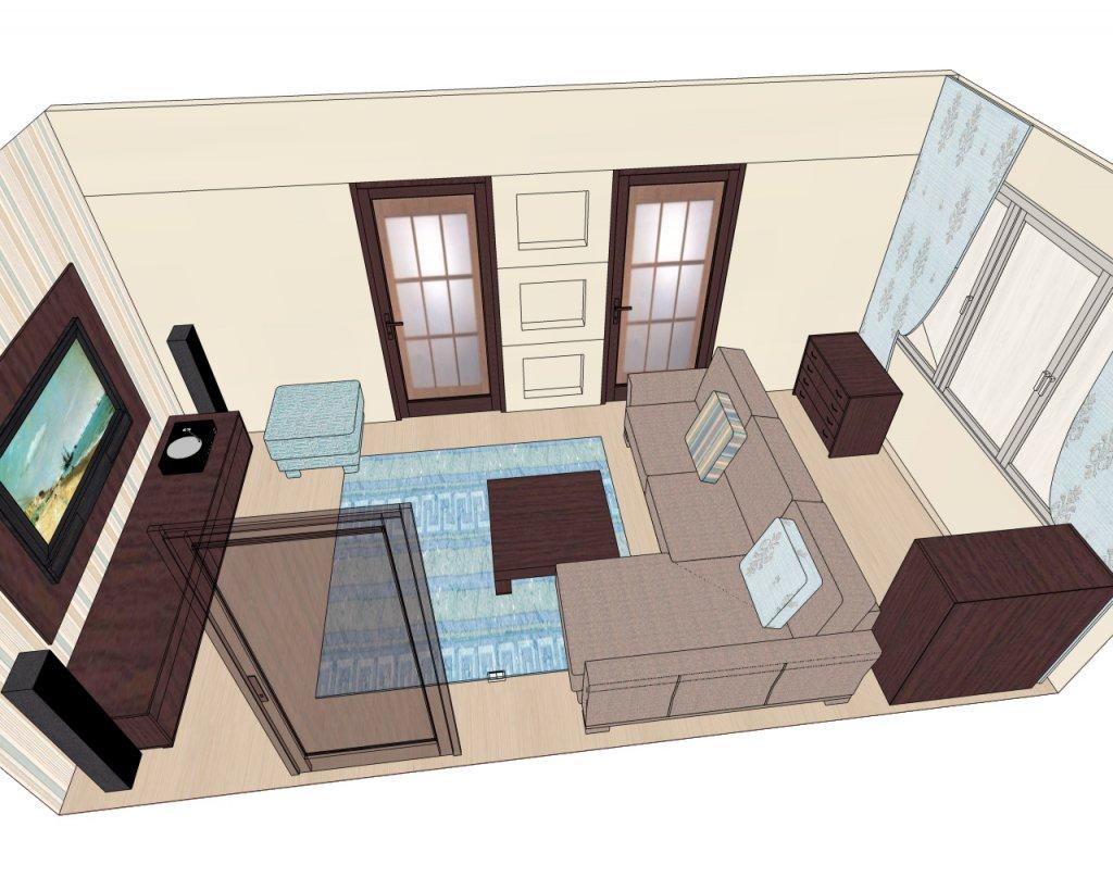 Расстановка мебели в гостиную