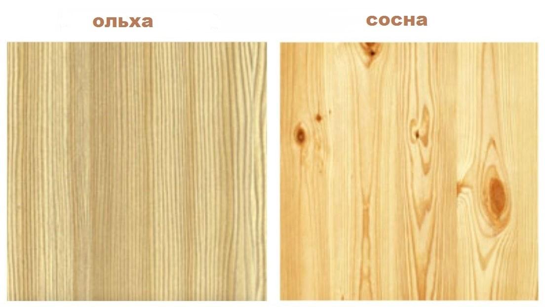 Сравнение мебели из ольхи и сосны