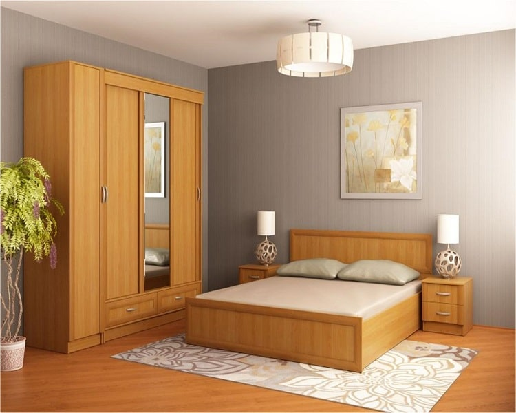 Спальня из ольхи