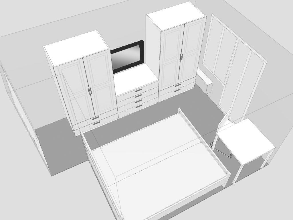 Расстановка мебели в спальню